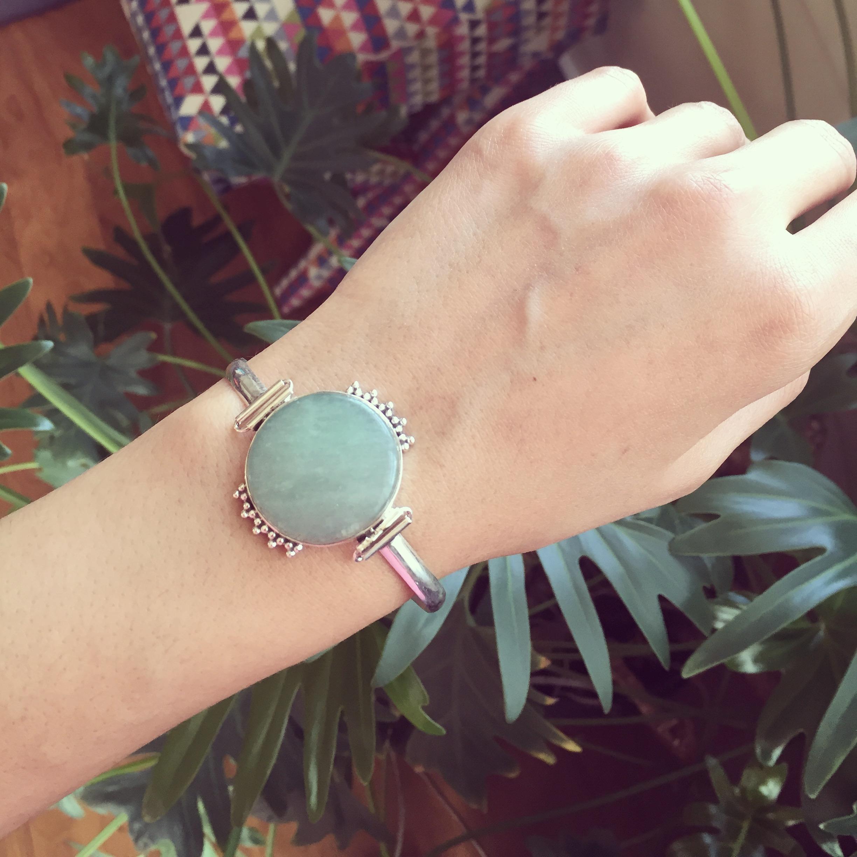 Aventurine 925 Sterling Silver Bracelet