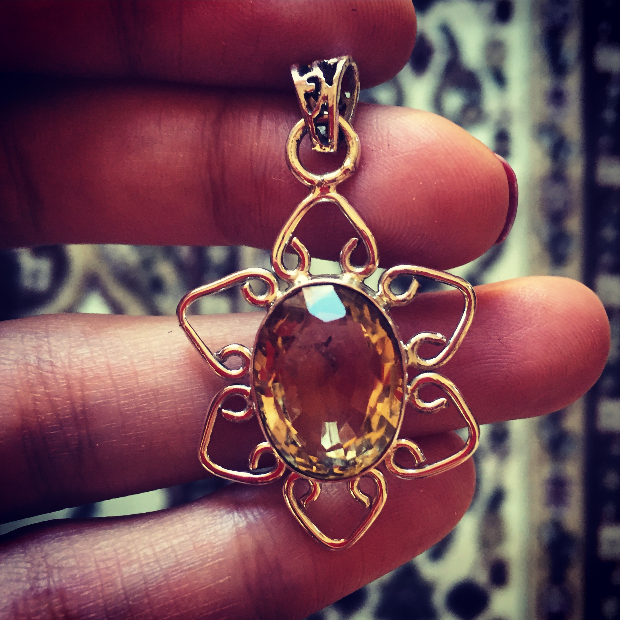 Citrine 925 Sterling Silver pendant