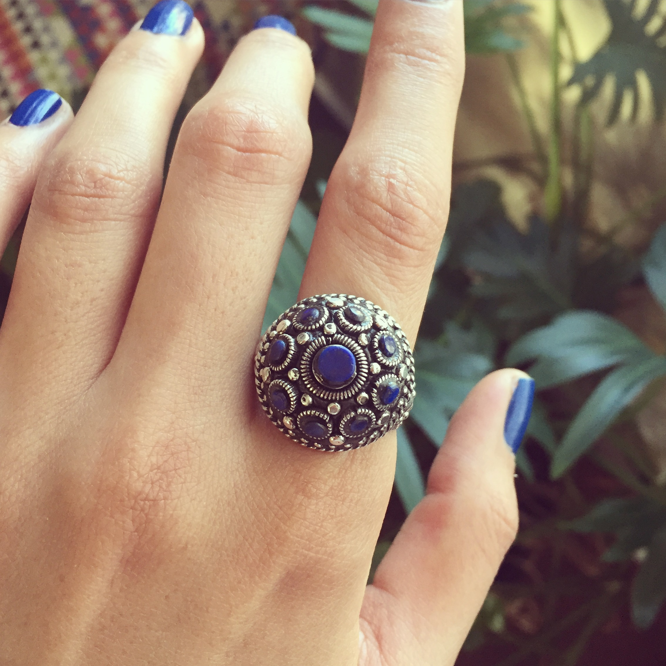 Lapis 925 Sterling Silver Ring