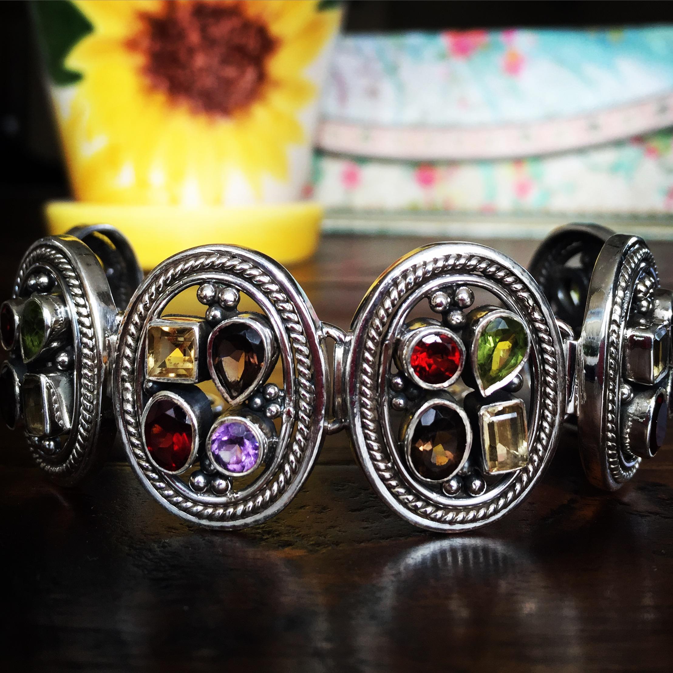 Multiple Stones 925 Sterling Silver Bracelet