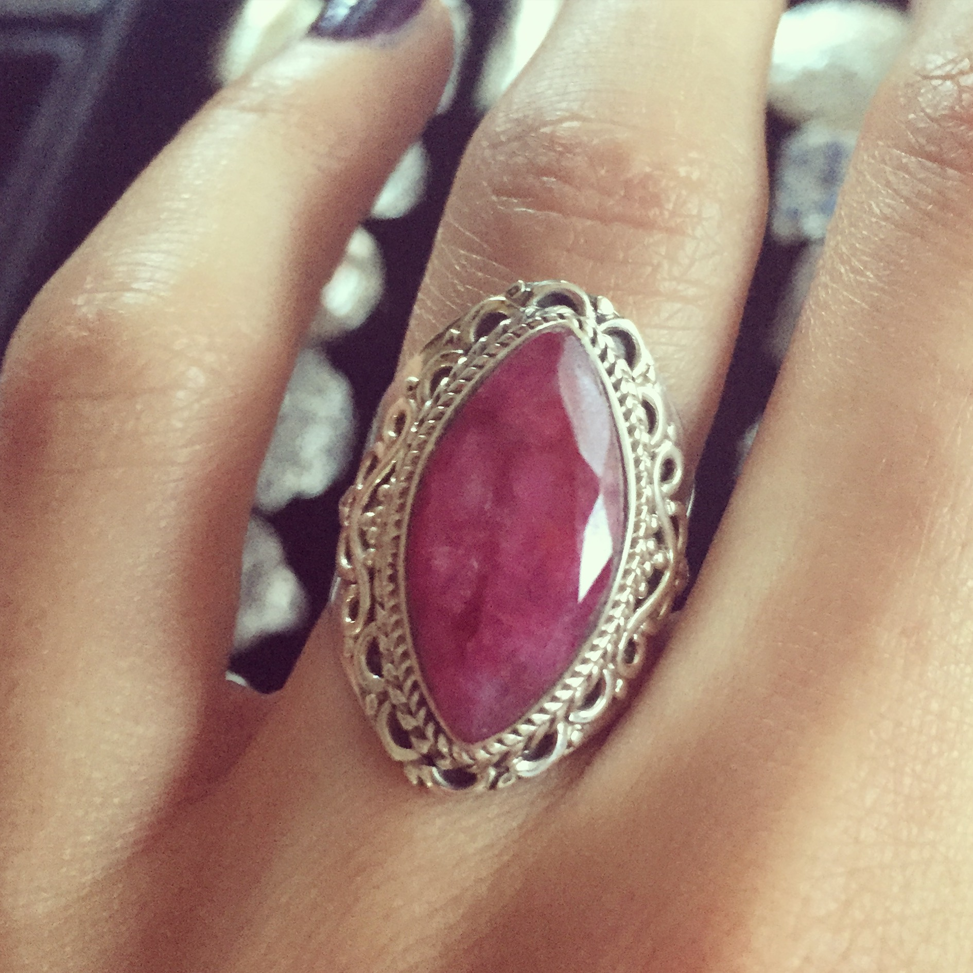 Ruby 925 Sterling Silver Ring