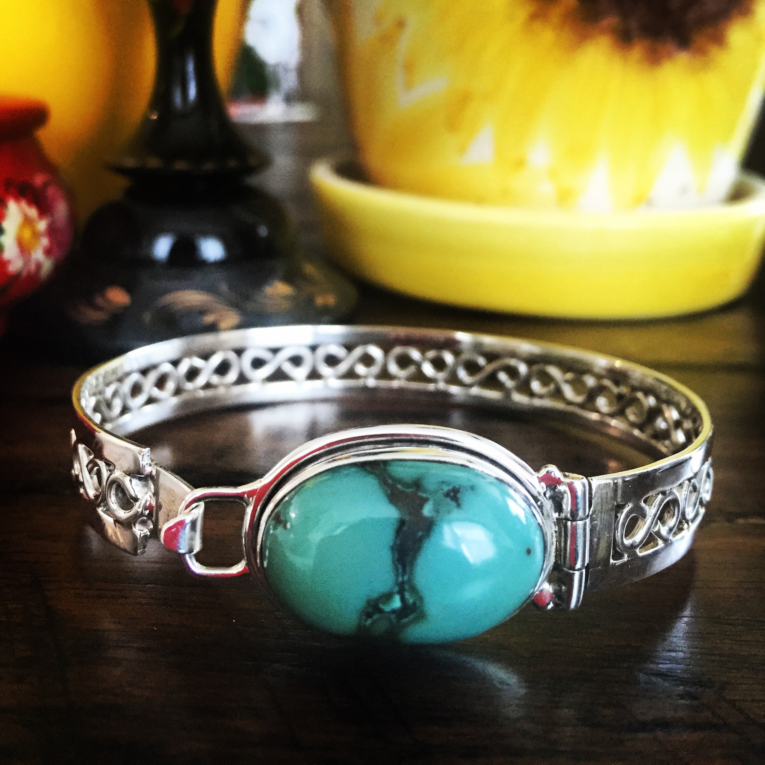 Turquoise 925 Sterling Silver Bracelet