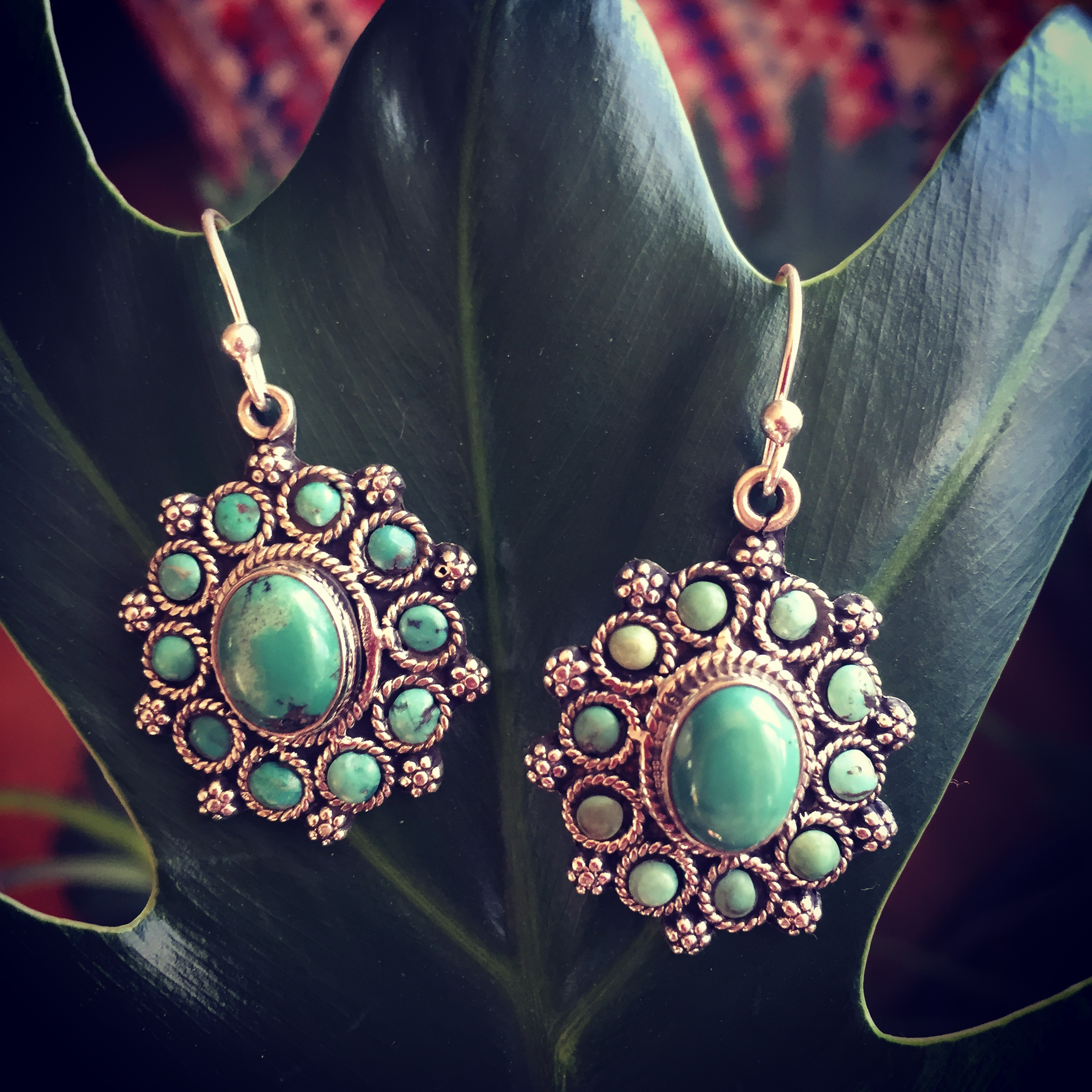 Turquoise 925 Sterling Silver Earrings
