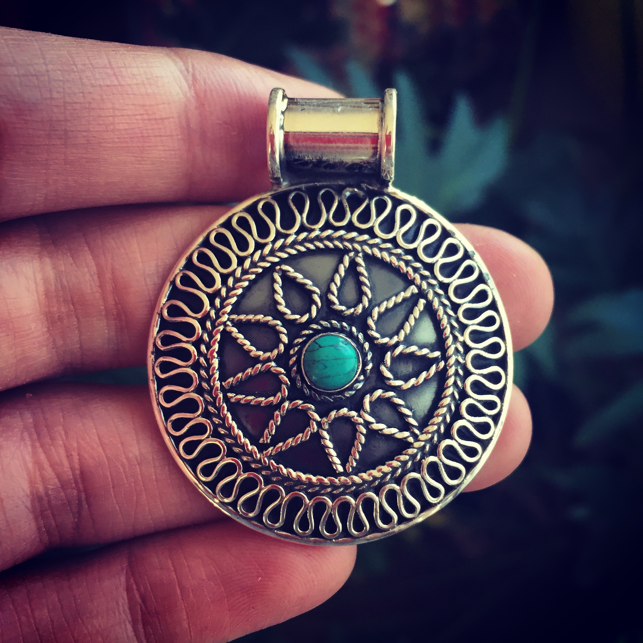 Turquise 925 Sterling Silver pendant
