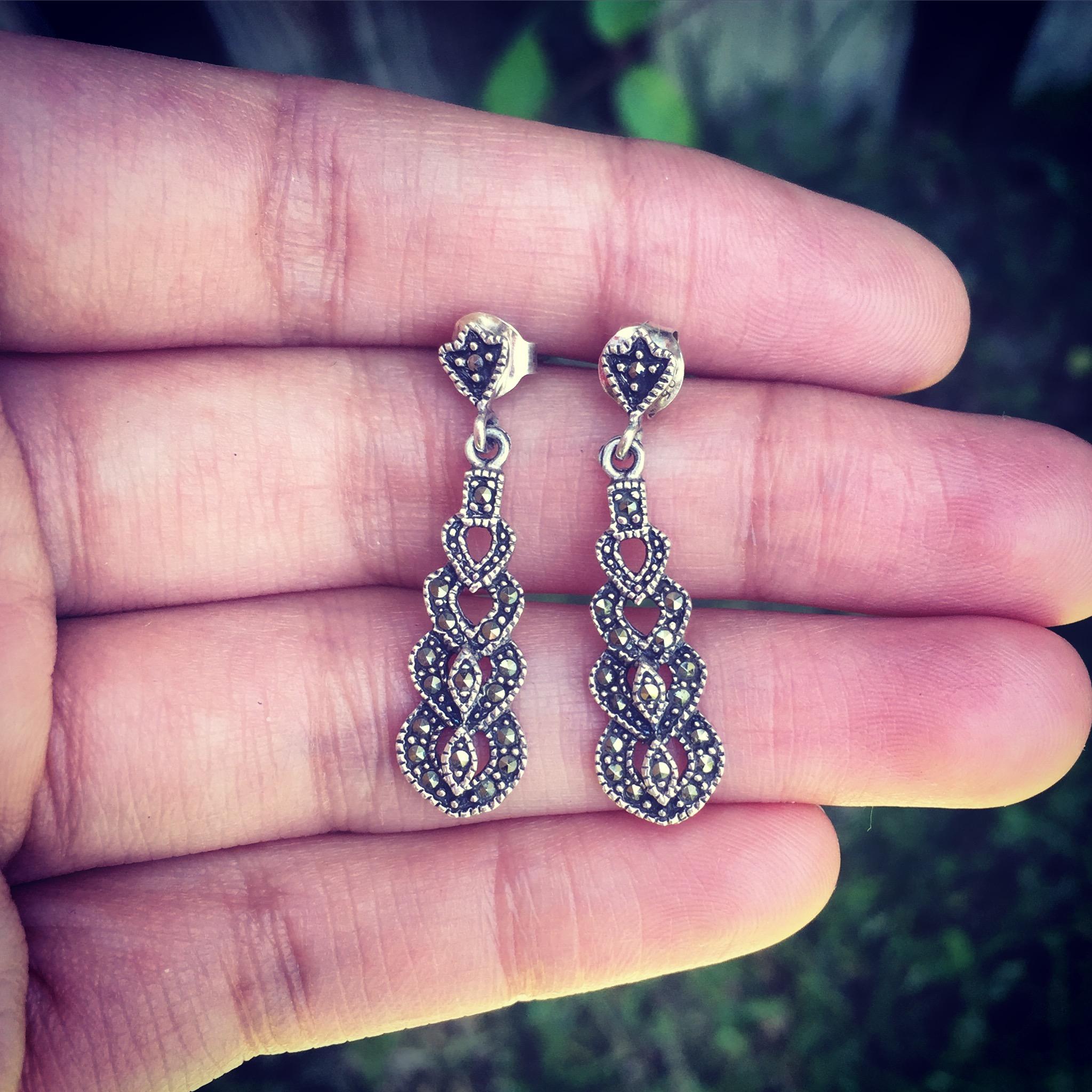 Beauty hearts sterling silver earrings