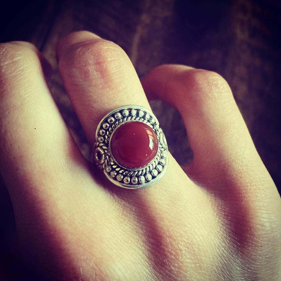 Red Onyx 925 Sterling Silver Ring
