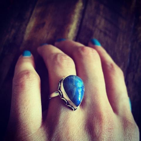 Labradorite 925 Sterling Silver Ring