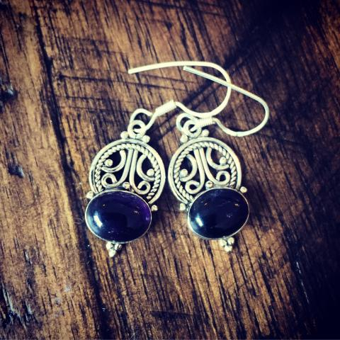 Amethyst 925 Sterling Silver Earrings