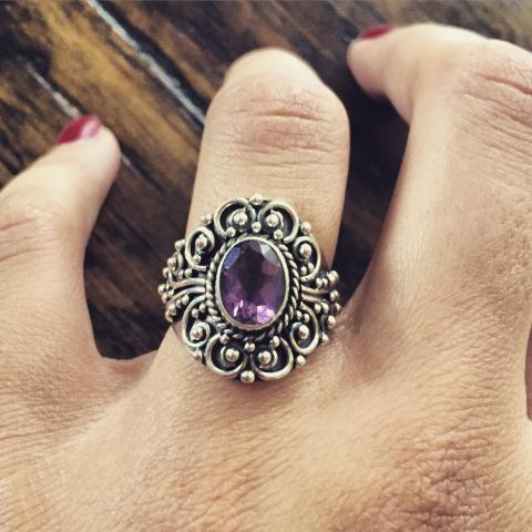 Amethyst 925 Sterling Silver Ring