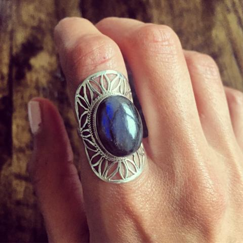 Labradorite 925 Sterling Silver Ring