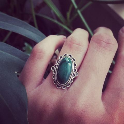 Malachite 925 Sterling Silver Ring