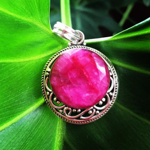Ruby 925 Sterling Silver pendant