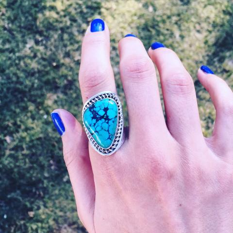 Turquoise 925 Sterling Silver Ring