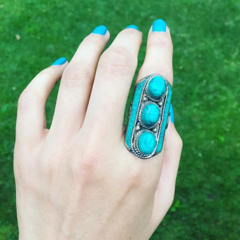 Turquoise Silver Plated Ring