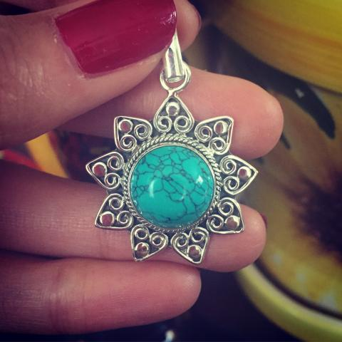 Turquoise 925 Sterling Silver pendant
