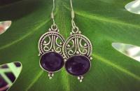 Amethyst 925 Sterling Silver Earrings