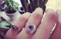 amethyst 925 Sterling Silver Rings