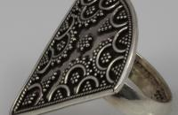 Heaven grapes sterling silver ring with marcasite