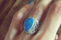 Opal 925 Sterling Silver Ring