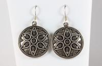 Roman guard sterling silver earrings with marcasite only