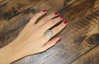 Romantic turns sterling plain silver ring