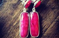 Ruby 925 Sterling Silver Earrings