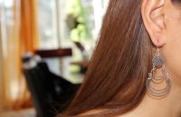 Twizzler plain stering silver earrings