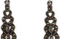 marcasite  only Beauty hearts sterling silver earrings