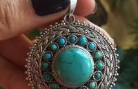 Turquoise Sterling Silver pendant